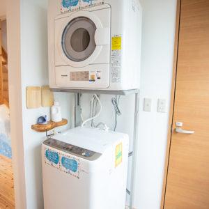 洗濯機、乾燥機も完備